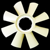RADIATOR FAN/ 8 BLADES/ NYLON -SCANIA 124