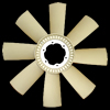 RADIATOR FAN/ 8 BLADES/ NYLON -